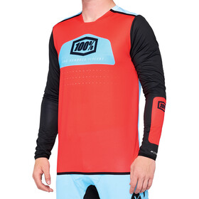 100% R-Core X DH Jersey Heren, fluor red/black